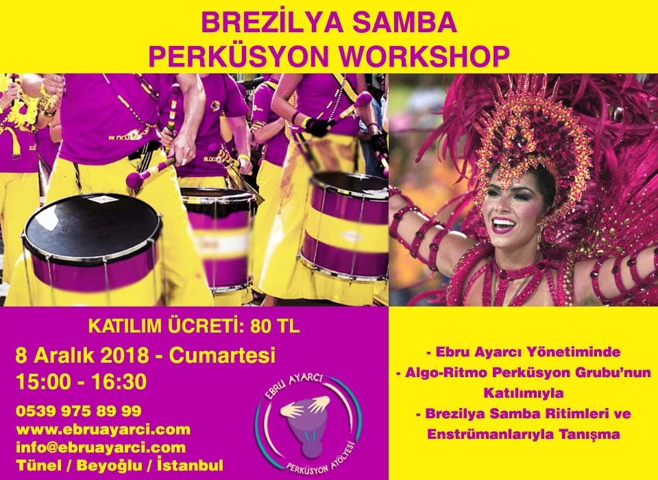 Brezilya Samba Perküsyon Workshop